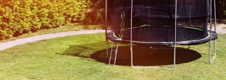 do trampolines have to be on grass
