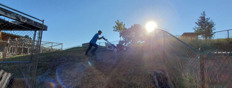 How To Cut Grass on a Steep Hill